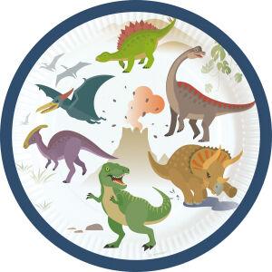 Papieren bordjes Dinosaurus groot