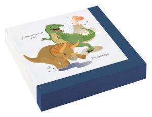 Papieren servetten Dinosaurus groot