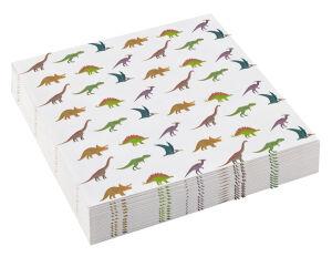 Papieren servetten Dinosaurus klein