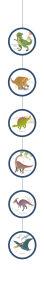 Decoratieslingers Dinosaurus