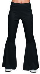 Flarebroek zwart valt als S/M/L stretch