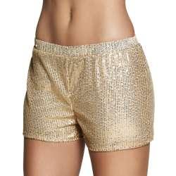 Hotpants Sequins goud valt als S/M