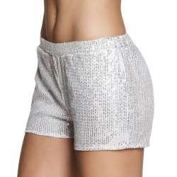 Hotpants Sequins zilver valt als S/M