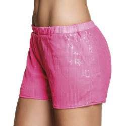 Hotpants Sequins neonroze valt als S/M