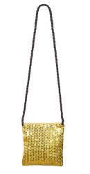 Schoudertasje Sequins - 18x17cm - goud