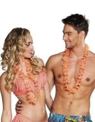 25 stuks Hawaiikransen oranje