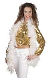 Boa 50 g Glamour wit met goud (180 cm)
