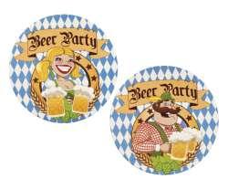 Bierviltjes 'Beer Party' ass. (10 cm)