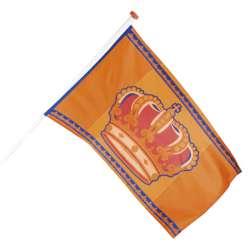 Polyester vlag Koningsdag - 90 x 150 cm
