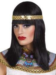 Pruik ''Cleopatra'' met hoofdband