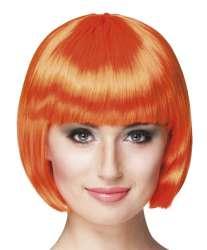 Pruik Cabaret oranje