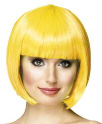 Pruik Cabaret geel