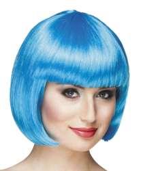 Pruik Cabaret icy blue