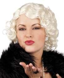 Pruik ''Helen'' Krul - kort - blond