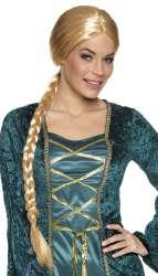 Pruik ''Lady Catherine'' Vlecht - lang - blond
