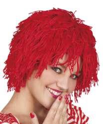 Pruik Clown Fuzzy rood