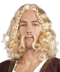 Pruik Viking Lars met snor