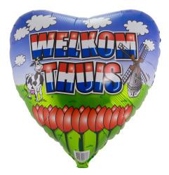 Folieballon Welkom Thuis Hart 45cm S40