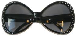 Bril met diamantframe Zwart