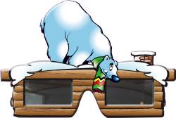 IJsbeer bril voor Après ski