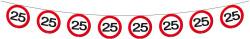 Vlaggenlijn papier verkeersbord 25 jaar