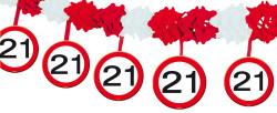 Slinger verkeersbord 21 jaar - 4meter