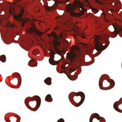 Tafel confetti hart rood