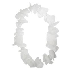 Hawai Krans Hartvorm wit