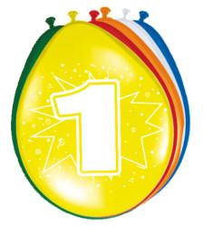 Ballonnen 1 jaar - 8 stuks