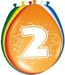 Ballonnen 2 jaar - 8 stuks