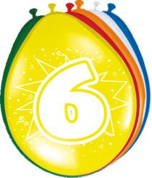 Ballonnen 6 jaar - 8 stuks