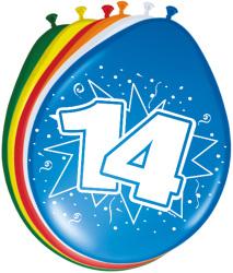 Ballonnen 14 jaar - 8 stuks