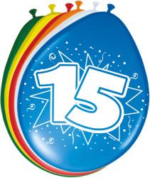 Ballonnen 15 jaar - 8 stuks
