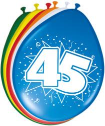 Ballonnen 45 jaar - 8 stuks