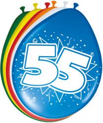Ballonnen 55 jaar - 8 stuks