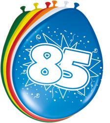 Ballonnen 85 jaar - 8 stuks