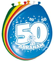 Latex Ballonnen Abraham / 8 stuks