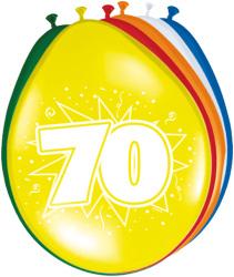 Ballonnen 70 jaar - 8 stuks