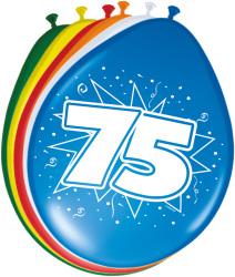 Ballonnen 75 jaar - 8 stuks