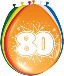 Ballonnen 80 jaar - 8 stuks