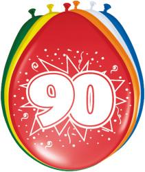 Ballonnen 90 jaar - 8 stuks