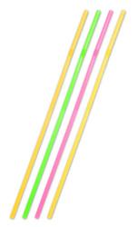 XXL Rietjes neon 44cm - 25st