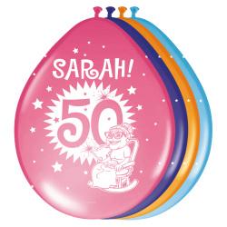 Ballonnen ''Sarah Knalfeest'' - 8 stuks