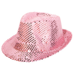 Tribly Hoed Roze paillet Deluxe
