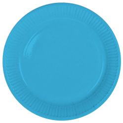 Blauwe Borden 23cm - 8 stuks
