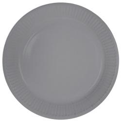 Papieren bordjes zilver 23cm - 8 stuks