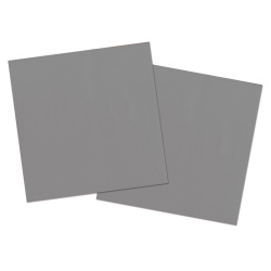 Servetten zilver 33x33cm - 20 stuks