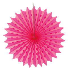 Honeycomb Fan Neon Pink 45cm