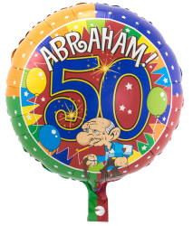 Folieballon Abraham Knalfeest S40