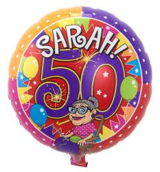 Folieballon Sarah Knalfeest S40